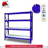 Rack de armazenamento de armazenamento médio de paletes de aço