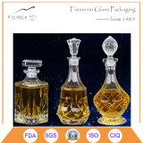 Frasco de vidro decorativo da arte/frasco de vinho de vidro desobstruído