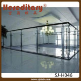 De Balustrade van het Glas van de Groef van het roestvrij staal voor Balkon/Dek (sj-H054)