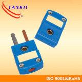 Tipo conector de T del conector de termocople mini usado para el sensor de temperatura