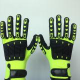 Перчатки поли нитрила Sandy законченный/Lycra безопасности при TPR&Sponge Собственн-Стикером