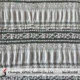 Tessuto elastico della sovrapposizione del merletto del cotone (M3208)
