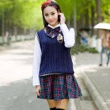 Qualité gracieuse d'uniforme d'élève de fille d'OEM de femmes coréennes classiques d'uniforme scolaire belle