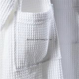 Bathrobe branco do Waffle do algodão de matéria têxtil do hotel