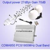 Репитер сигнала Cmda PCS репитера сигнала полосы 850/1900MHz St-1085b передвижной ракеты -носителя сигнала двойной