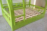 Cama de beliche de madeira do estilo da cama de beliche dos cabritos da cor verde boa (M-X1102)