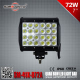 7 CREE DEL Car Driving Light Bar (SM-41X-072A) de pouce 72W (24PCS*3W) Quad Row
