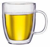 Cuvette élevée en verre de mur de double de Borosilicate de tasse en verre de bière