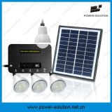 Solarhauptbeleuchtungssystem kann 4 Räumen 8 Stunden lang mit Telefon-Aufladeeinheit leuchten