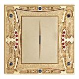 Interruttore d'ottone della parete di alta qualità placcato oro