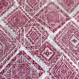 Tissu en coton artificiel tissé simple Tissu imprimé en mousseline de soie