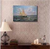 Peinture à l'huile décorative de bateau de navigation