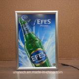 El marco LED del broche de presión del aluminio del alto brillo hace publicidad del rectángulo ligero