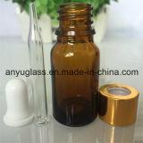 Bouteille en verre de compte-gouttes pour l'ambre vert-bleu d'huile essentielle