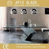 6mm, 8mm, 10mm, 12mm quadratische Form-ausgeglichenes Glas-verwendete Tisch-Oberseite