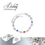 Cristal da jóia do destino do bracelete colorido do coração de Swarovski