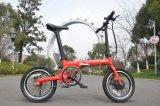 Bicicleta elétrica dobrada com lítio de 16 polegadas com tubo de sela BMS (16F01)