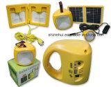 LED 전구를 가진 태양 야영 LED 손전등