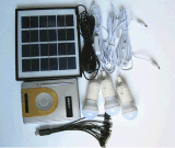 4PCS 1W Solar LED Lighting Kits System mit FM Radio From ISO Solar Factory