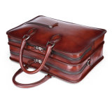 Портфель кожаный мешка сбор винограда застежки -молнии двойника большой емкости для дела