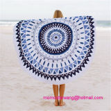 Tovagliolo di spiaggia rotondo all'ingrosso del cerchio con i testi fissi della nappa