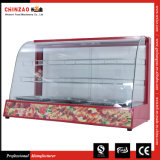 Scaldino di vetro curvo di vendita caldo della visualizzazione dell'alimento con approvazione del Ce