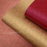 Couro de imitação colorido do plutônio do projeto de estrutura, couro artificial do saco