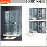 Etch/заморозок/картина фингерпринта Silkscreen Print/No 4-19mm кисловочный плоская/согнули стекло безопасности закаленное/Toughened для двери/двери окна/ливня в гостинице и доме