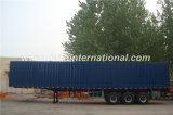 De 3 árboles de la carga pesada de Van Type Straight de la viga acoplado semi