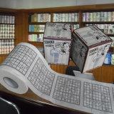 Sudoku a estampé le tissu de salle de bains personnalisé par roulis de WC de nouveauté de rouleau de papier hygiénique