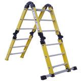 (375LBS) 35kv Yellow Fiberglass 4 단면도 Folding Ladder