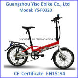 "20 "" 36V/250W는 소형 전기 자전거 Ebike UK를 접히는 단식한다"