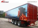 занавеса 3axles стороны трейлер Curtainsider Semi для сбывания