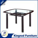 PUの保護ガラスのダイニングテーブルセット