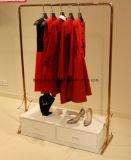 Estante de visualización de la ropa de las señoras con color del negro de la capa