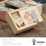 Hongdao Classic Caja de embalaje de madera con deslizamiento Lid_F