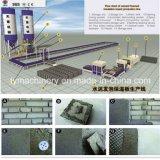Macchina a prova di fuoco del blocchetto di gomma piuma del cemento della parete dell'isolamento termico di Tianyi