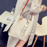 2017 Outono New Fashion Bucket Bag Bolsa Bolsa De Mensageiro Shoulder Tassel De Lash (GB # muzhu)