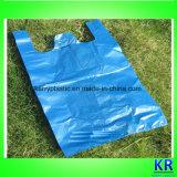 HDPE seitliches Wegwerfstützblech-gestreifte Abfall-Beutel mit Griff