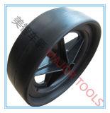 10 Zoll flaches freies PU-Schaumgummi-Rad-glatter Reifen für Schubkarren und Laufkatzen