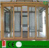 Деревянная раздвижная дверь алюминия зерна