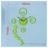 Reloj del reloj DIY de la etiqueta engomada de la pared de la oficina de China
