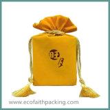 Saco relativo à promoção dos cosméticos do Drawstring de veludo do saco dos cosméticos de veludo