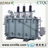 6.3mva 110kV transformador de carga de cuerda doble potencia entregada