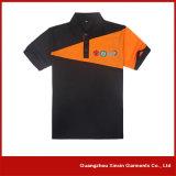 Camisas de polo publicitarias barato en blanco de la fábrica de China con su propia insignia (P79)
