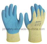 Gant de protection contre la chaleur de travail avec l'enduit de latex (LK3022)