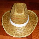 Logo Printing Hat Band를 가진 Straw Cowboy Hat를 주문 설계하십시오