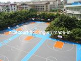 Plancher en plastique extérieur de terrain de basket, plancher en plastique de verrouillage de basket-ball