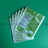 Grüne Farben-Plastikkosmetik-Beutel mit Reißverschluss
