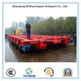 الصين ممون 10 محور العجلة منخفضة سرير شاحنة مقطورة مع سعر جيّدة